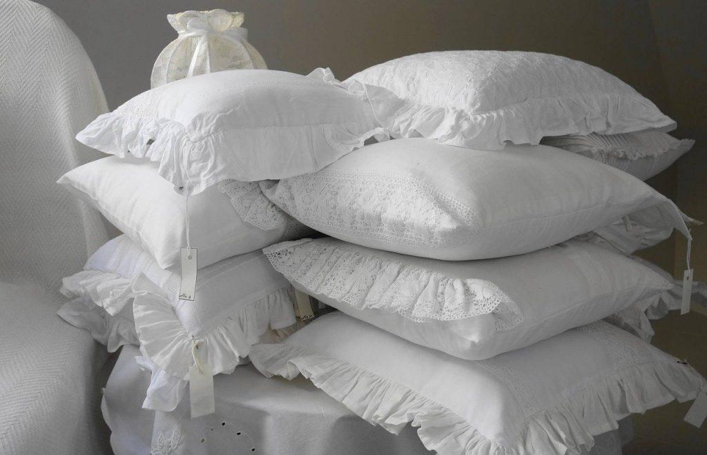 Pile of David Hogg Pillows
